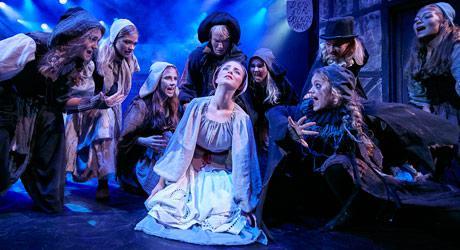 Foto fra Eventyrteatrets musical Kongen og Tiggertøsen