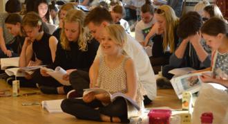 Første læseprøve 3. maj 2017 på Eventyrteatrets musical Kongen og Tiggertøsen
