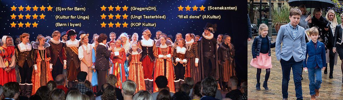 Premiere på Eventyrteatrets musical Kongen og Tiggertøsen og de første anmeldelser