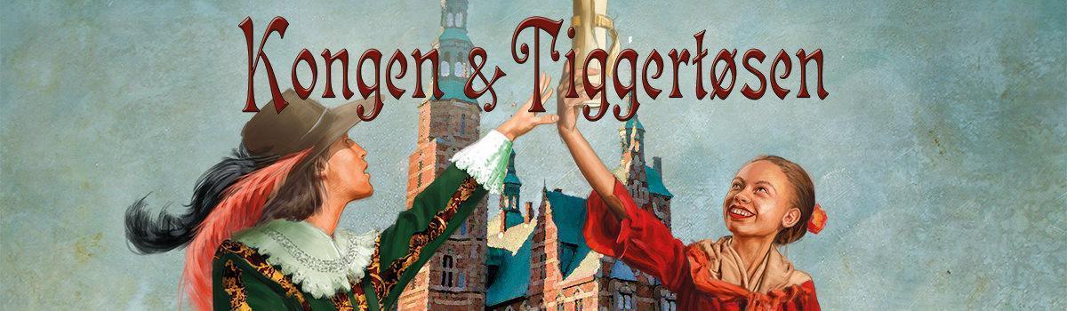 """Udsnit af Per O's plakat for Eventyrteatrets familiemusical """"Kongen og Tiggertøsen"""""""