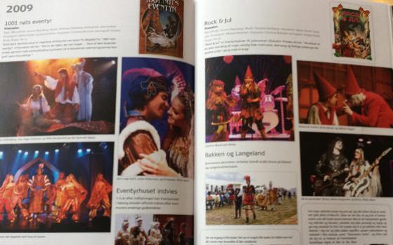 """Fra bogen """"Den Eventyrlige Ide"""" om Eventyrteatrets første 25 år, udgivet 2016 i samarbejde med Tilsted & Co"""
