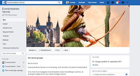Eventyrteatrets venner facebookside