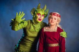 Fra Eventyrteatrets familiemusical Skovens Dronning, oktober 2019, Glassalen i Tivoli - Eventyrteatret i Glassalen - Tutivillus og prinsesse Margrete - teater, børneteater, musical