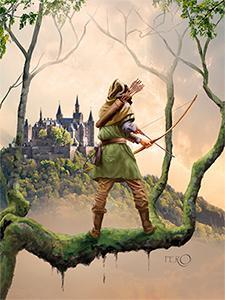 Robin Hood musical teater plakat uden titel
