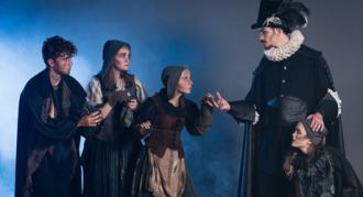 Biografreklame for Eventyrteatrets musical Kongen og Tiggertøsen