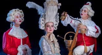 Kostumefoto fra Eventyrteatrets musical Den Magiske Maske