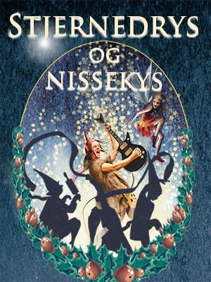 """Plakat for Eventyrteatrets julemusical """"Stjernedrys og Nissekys"""", Glassalen i Tivoli 2015"""
