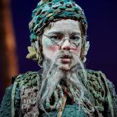 Foto fra Fugl Fønix musical teater spillet i Glassalen i Tivoli