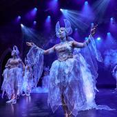 Fra Eventyrteatrets familiemusical Skovens Dronning, oktober 2019, Glassalen i Tivoli - Eventyrteatret i Glassalen - Sylfider Sophia Bircow - teater, børneteater, musical