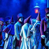 """Foto fra Eventyrteatrets julemusical """"Et Juleeventyr"""", december 2012, Glassalen i Tivoli"""