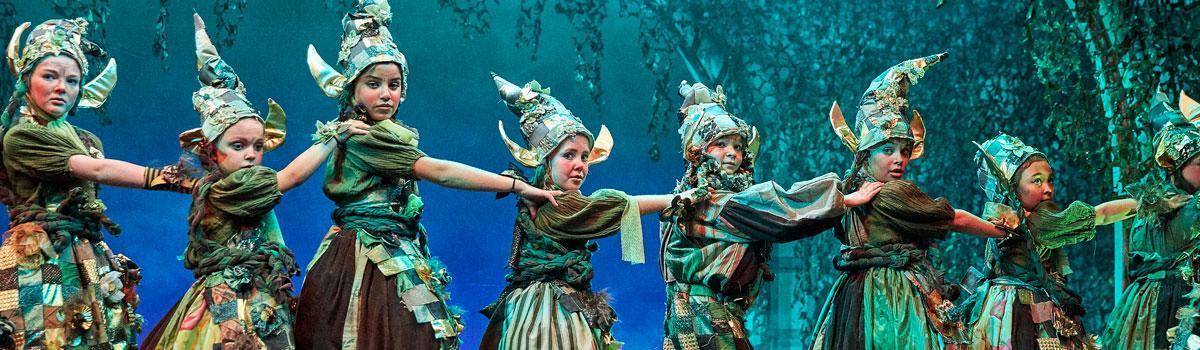 "Gnomer fra Eventyrteatrets musical ""Skovens Dronning"" 2019 - foto: Ole Mortensen"